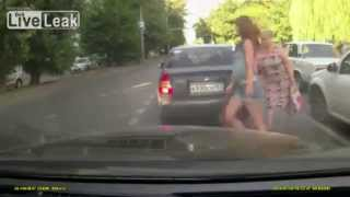 Police car hits woman crossing the road | Woman gets hit by police car 2014