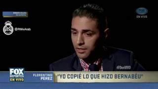 حصرياً: المقابلة الكاملة لفلورينتينو بيريز مع شبكة فوكس الرياضية