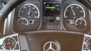 Mercedes Benz Actros Interactive Dash controls explained