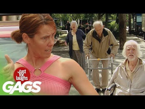 Epic Old Man Traffic Jam Prank - Just For Laughs Gags