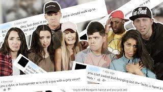 Reading Mean Comments! ft. Lilly, Merrell Twins, Swoozie, Laurdiy, Alex Wassabi, & Matt Steffanina