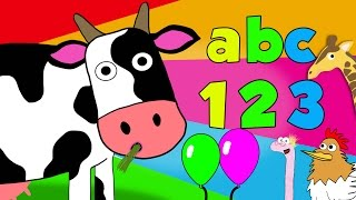 Kids Learning Videos | Learning Megamix with Number Zoo | Counting, shapes, phonics & more!