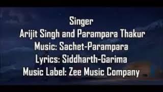 Pal pal dil ke pass lyrics. Arijit Singh,  zee music company