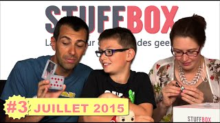 DES SURPRISES ! Ouverture STUFFBOX Juillet 2015 - Family Geek