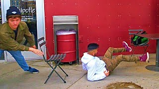 Chair Pulling Prank Part 10