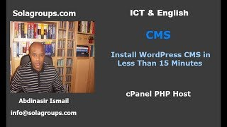 How to Install CMS WordPress less than 15 Minutes?