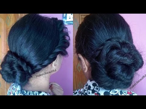 Xxx Mp4 Quick Easy Hair Bun For Parties Indian Wedding Guest Hairstyle For Medium To Long Hair 3gp Sex