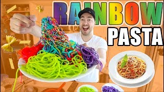 How To Make RAINBOW PASTA! | EASY COOKING