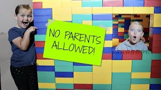 KIDS ONLY Giant LEGO FORT! No Parents Allowed