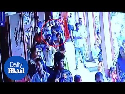 Xxx Mp4 CCTV Shows Bomber Entering Katuwapitiya Church 3gp Sex