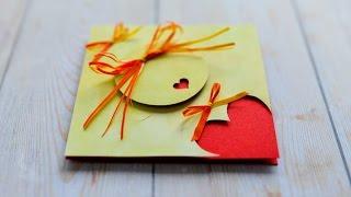 How to Make - Greeting Card Valentine's Day Hearts - Step by Step DIY | Kartka Walentynkowa