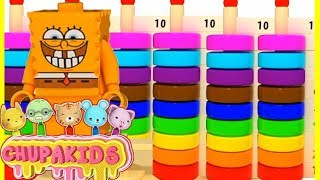 Learn colors for kids with animation by Chupakids #6 Spongebob squarepants Learn Colors