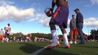 Clemson holds practice at Buccaneers practice facility