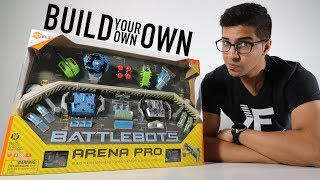 UNBOXING & LETS PLAY - BATTLEBOTS ARENA PRO (BUILD YOUR OWN) -  by HEXBUG - FULL REVIEW!