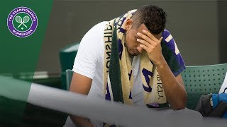 Nick Kyrgios retires injured in Wimbledon 2017 first round