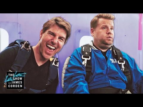 Xxx Mp4 Tom Cruise Forces James Corden To Skydive 3gp Sex