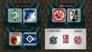 Eintracht vs Freiburg + Augsburg vs Hamburger + Hannover vs Mainz + Stuttgart vs Hertha BSC
