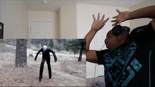 12 Scariest Slender Man Sightings Caught on Tape REACTION!