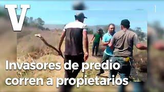 Invasores De Predio En Morelia, Corren A Propietarios.