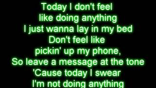 Lazy song -Bruno mars lyrics