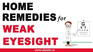Weak Eye Sight – Natural Ayurvedic Home Remedies