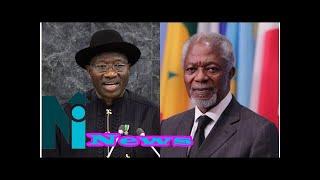 Kofi Annan managed contending powers in the UN - Goodluck Jonathan mourns