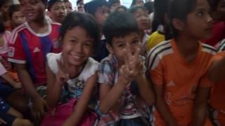 The Nude Dudes visit Jimmy's Village School in Siem Reap
