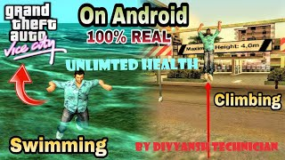 How to swim+climb+ unlimited health gta vice city