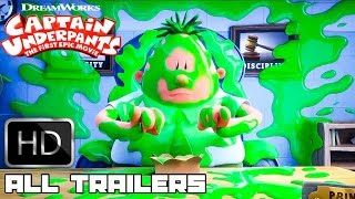 Captain underpants All Trailers & Movie Clips (2017) Kevin Hart Animation Movie HD