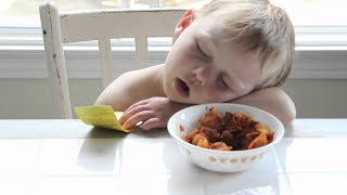 Funny Babies Falling Asleep While Eating Compilation (2017)
