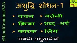 Learn Hindi Grammar - Hindi Vakya Shodhan   Vakya Shuddhi   वाक्य अशुद्धि शोधन - 1