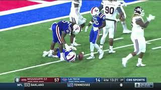 Louisiana Tech Bad Snap in the Red Zone vs Mississippi St.