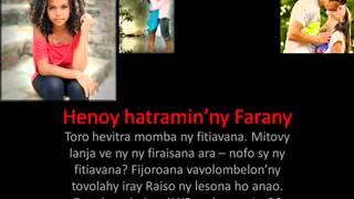 Mitovy Lanja ve ny Fitiavana sy ny firaisana ara - nofo?