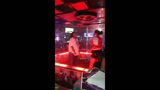 (As seen on Ridiculousness) Girls gets Slapped of the table at strip club