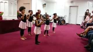 Jesus Tabanacle Toddler Praise Dancers