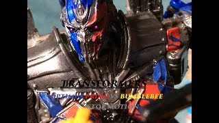 SPOILER Transformers the last knight optimus vs bumblebee stop motion