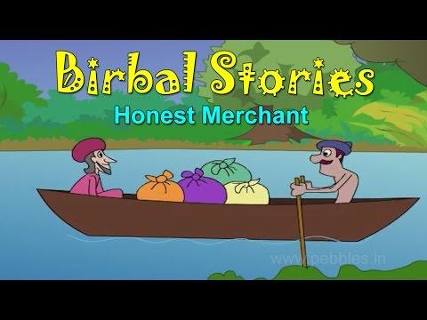 Pramanik Vyapari   Honest Merchant   Birbal Stories in Marathi for Kids   Marathi Goshti