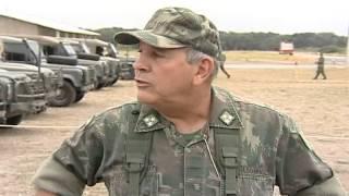 Exercício de guerra em Itapemirim, no Sul do Estado