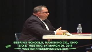 SEBRING OHIO SCHOOLS BOARD OF EDUCATION MARCH MEETING THOMAS MOREHOUSE