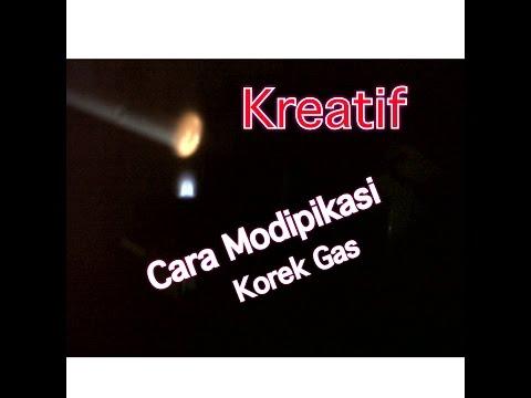 Cara Modifikasi Korek Gas menjadi terbang dan api biru.