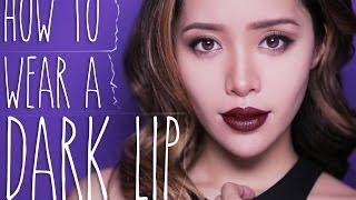 How to Wear a Dark Lip