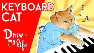 RIP KEYBOARD CAT, el GATO más FAMOSO de Internet - Draw My Life en Español