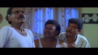 Biradar and Sadhu Kokila makeuping Dead Body | Kannada Comedy Scenes | Ganesha Banda Yenen Thanda