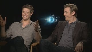 Max Irons & Jake Abel on Shirtless Photo Shoots, THE HOST, Swapping Bodies & more