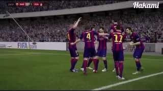 فاول ميسي على ريال مدريد (FIFA 15) تعليق رؤوف خليف