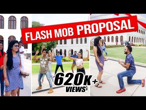 ලංකාවේ SURPRISE FLASH MOB PROPOSAL 1ක් || RaMoD with COOL STEPS !!!