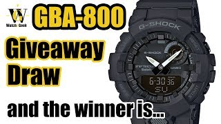 GBA-800 Giveaway Draw - Let's see who won the watch!!
