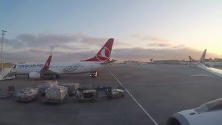 What a beautiful Morning! Turkish Airlines A320 Pusback, Taxi & Take-Off from Istanbul