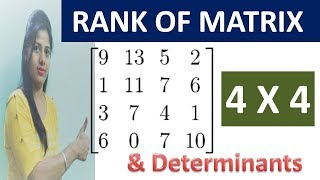 4 by 4 Rank of matrix TIPS and inverse determinants of matrices  in  hindi