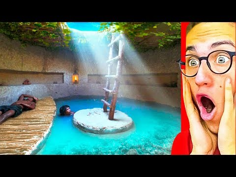They Made The BEST SECRET UNDERGROUND POOL HOUSE